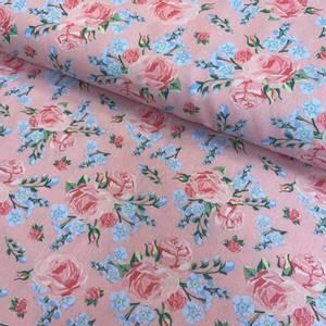Bilde av Bomull Poplin stor Blomster Rosa