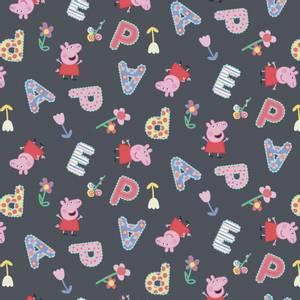 Bilde av Bomulljersey med Peppa Gris og bokstaver
